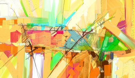 Photo pour Abstract colorful oil painting on canvas texture. - image libre de droit