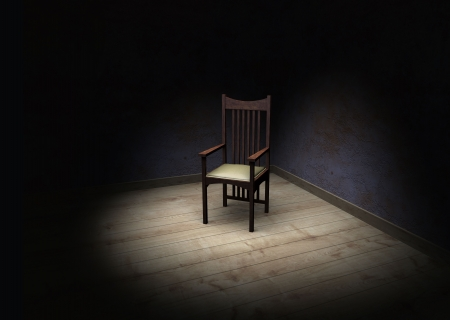 old chair in a dark room