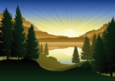 Foto de A beautiful lake in the mountains - Imagen libre de derechos