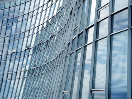 modern glass and aluminum facade