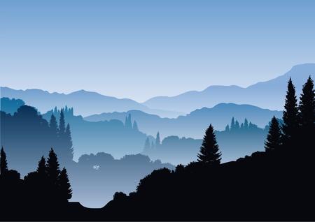 Illustration pour blue mountains - image libre de droit