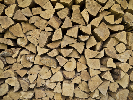 a store of fire wood for winter time