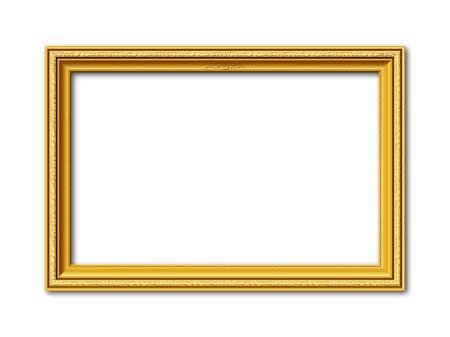 Illustration pour golden ornamental vintage style frame isolated on white background - image libre de droit