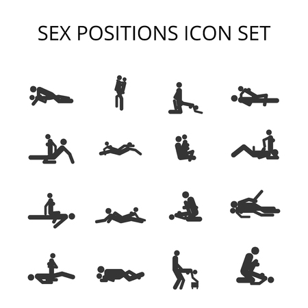 Sex Positions Vector Icon set: Royalty-free vector graphics