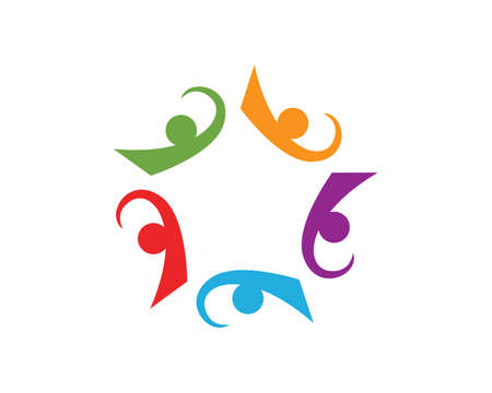 Illustration for Community care logos - Royalty Free Image