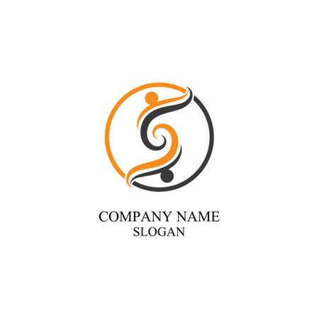 Illustration pour S people logo community vector - image libre de droit