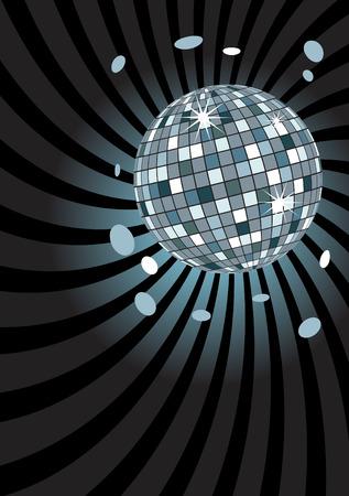 Disco ball at midnight