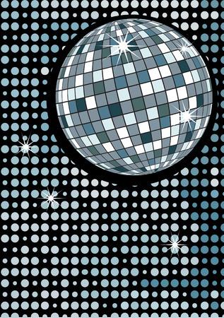 Disco gold party ball