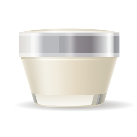 Cream container isolated