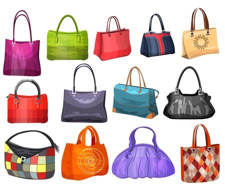 Illustration pour Women\'s fashion collection of bags.  - image libre de droit