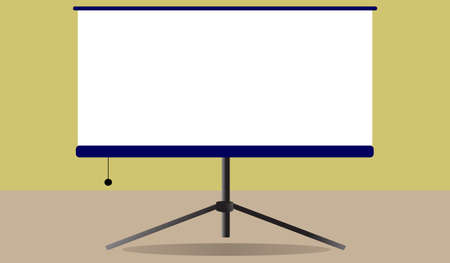 Illustration for Blank flip chart ,Business info graphic ,Whiteboard isolated on background. Vector illustration flat design.Blank projector screen - Royalty Free Image