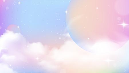Illustration pour Unicorn Sky Colorful Gradient, Unicorn Gradient background colorful. S - image libre de droit