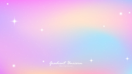 Ilustración de Unicorn Sky Colorful Gradient, Unicorn Gradient background colorful. Sky unicorn, Color star trek. Vector gradient Illustrator EPS10. - Imagen libre de derechos