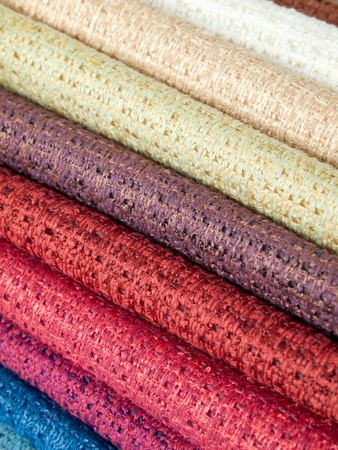Many examples of colored cotton lining layer