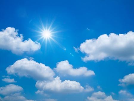 Bright blue sky and sun shine Landscape