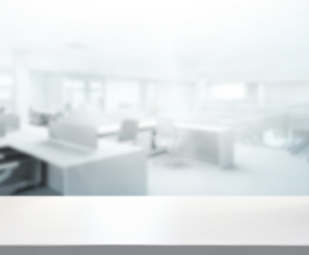 Photo for Table Top And Blur Office of Background - Royalty Free Image