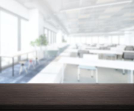 Foto de Table Top And Blur Office Of The Background - Imagen libre de derechos