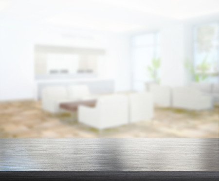 Photo for Table Top And Blur Office Of The Background - Royalty Free Image