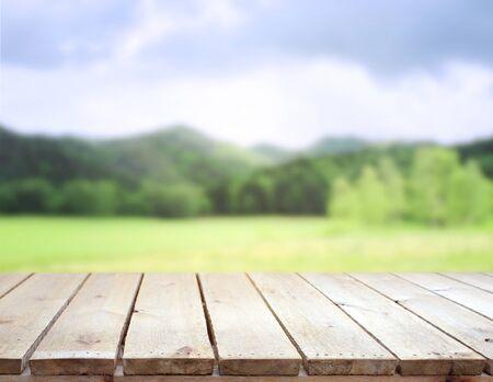 Photo pour Table Top And Blur Nature For The Background - image libre de droit