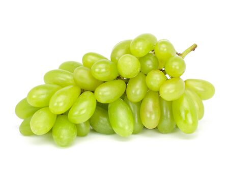 Foto für Fresh green grapes Isolated on white background - Lizenzfreies Bild