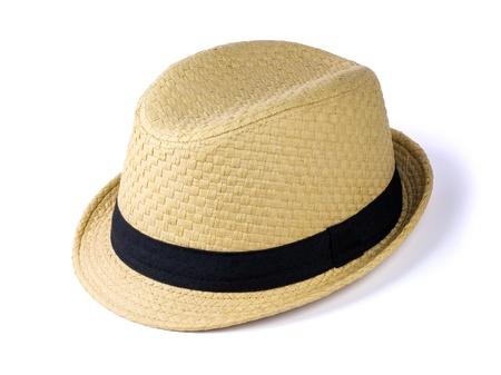 Foto de Summer straw hat isolated on white background - Imagen libre de derechos