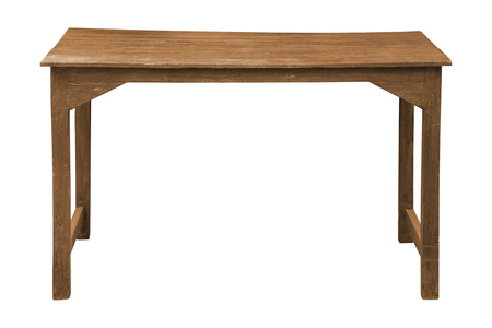 Photo pour Old wooden table isolated on white background, work with clipping path. - image libre de droit