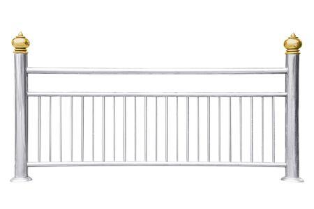 Foto für Stainless steel railing isolated on white - Lizenzfreies Bild