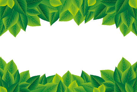 Illustration for Green leaves frame - Royalty Free Image