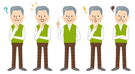 Illustration for Senior man - Royalty Free Image