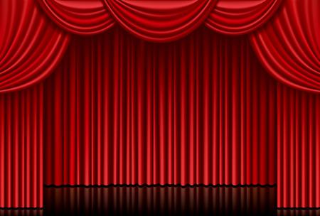 Illustration pour Red curtain - image libre de droit
