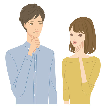 Illustration pour Worried couple - image libre de droit