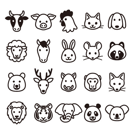 Illustration for Animal icons - Royalty Free Image
