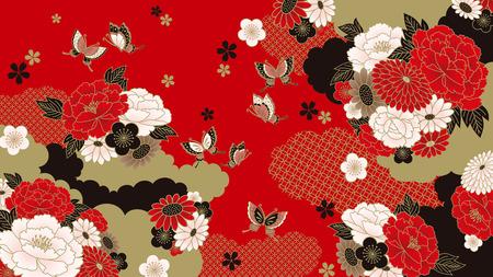 Illustration pour Japanese background - image libre de droit