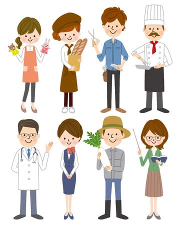 Ilustración de Different professions set. - Imagen libre de derechos