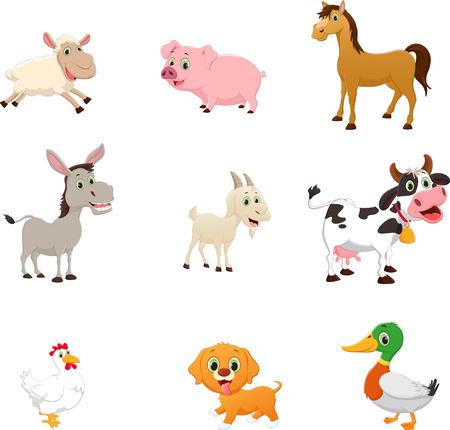 Foto de set of farm animal cartoon - Imagen libre de derechos