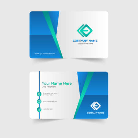 Illustration for Corporate modern business card template - Royalty Free Image