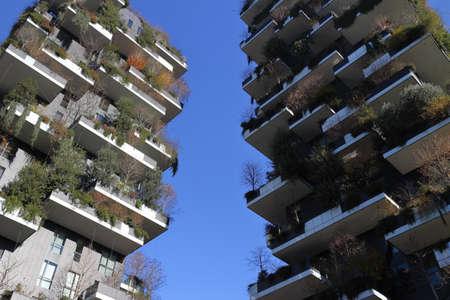 Photo pour Milan, Italy, 12/24/2018: Modern skyscrapers in the city of Milan - image libre de droit
