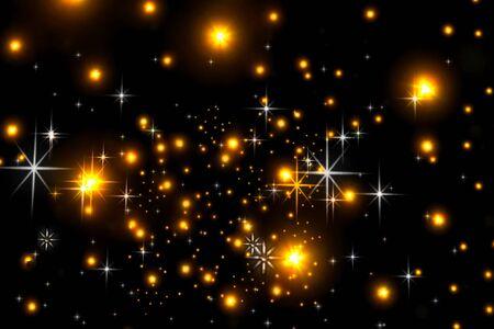 Foto für Animated stars on a black background. The starry sky - Lizenzfreies Bild