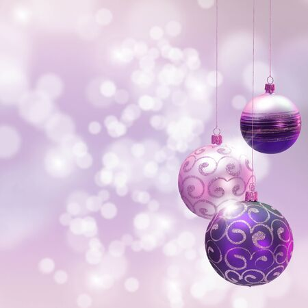 Christmas decoration over blured shiny background. Space for text.ᅵ