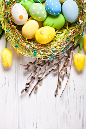 Photo for Happy Easter. Congratulatory easter - Royalty Free Image