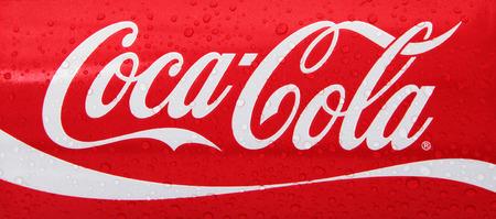 Nachod, Czech Republic May 15 2015: photo of Classic Coca-Cola can on White Background. Coca-Cola Company