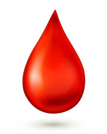 Illustration pour Blood drop isolated on white background - image libre de droit