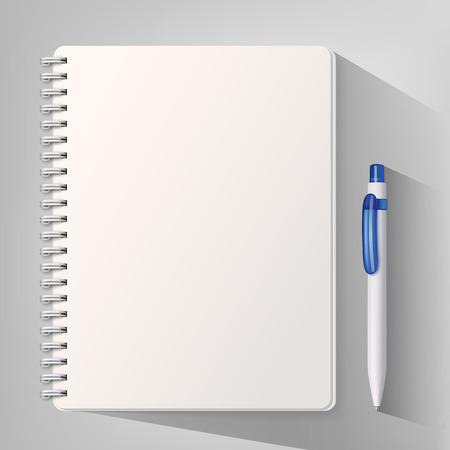 Illustration pour Notebook with a pen. Vector illustration - image libre de droit