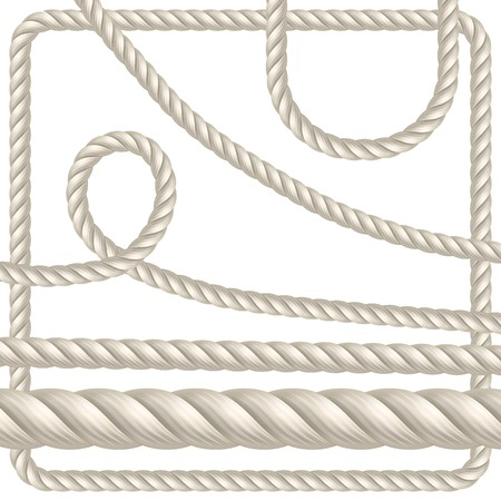 Rope of different shapes. Seamless vector