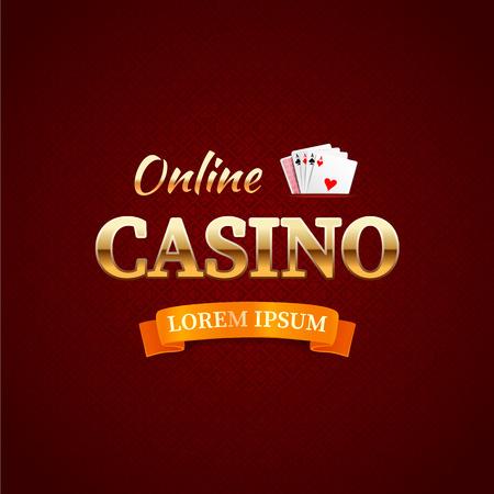 Casino - logo or emblem, online casino typography design