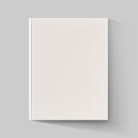Illustration pour Blank book cover with long shadow. Vector illustration - image libre de droit