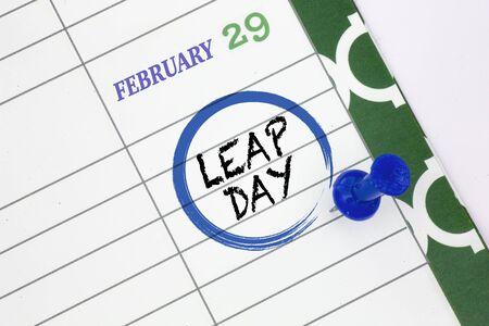 Photo pour Close up a calendar on February 29 on a leap day - image libre de droit
