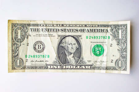 Photo pour San Francisco, California, USA. June 22, 2020. An Old Front of the American One Dollar Bill - image libre de droit