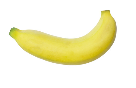 Photo for Yellow tasty banana isolated on a white background - Royalty Free Image