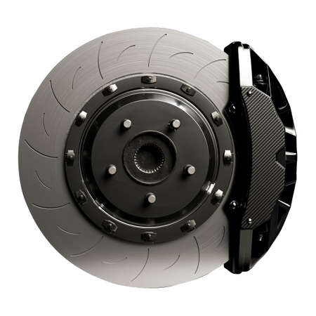Photo pour Brake Disc for car. Isolated on white background  . 3D Render. - image libre de droit